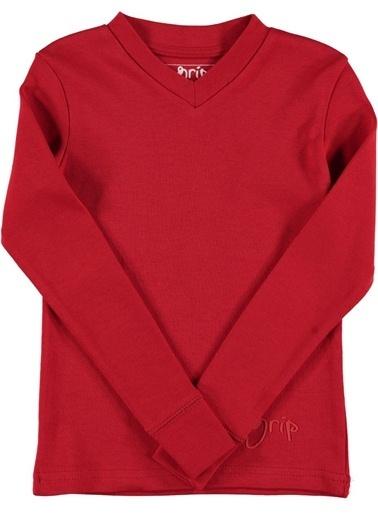 Grip Sweatshirt Kırmızı